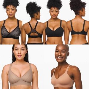 Lululemon bras brand new 4 pairs 34B tan black